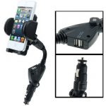 Black-Dual-USB-Port-Car-Charger-Universal-Adjustable-Mount-Stand-Holder-for-Samsung-Galaxy-S4-i9500
