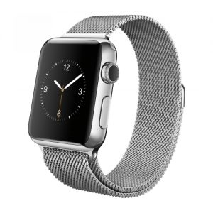 Apple Watch 38mm Silver Stainless Steel with Milanese Loop MJ322