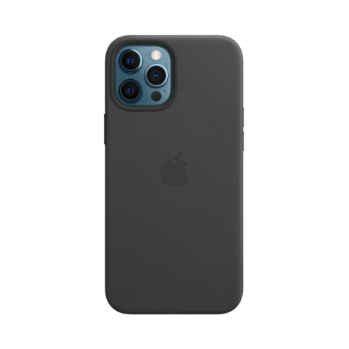 iPhone 12 Pro Max Leather Case with MagSafe – Black (1) OneThing_Gr